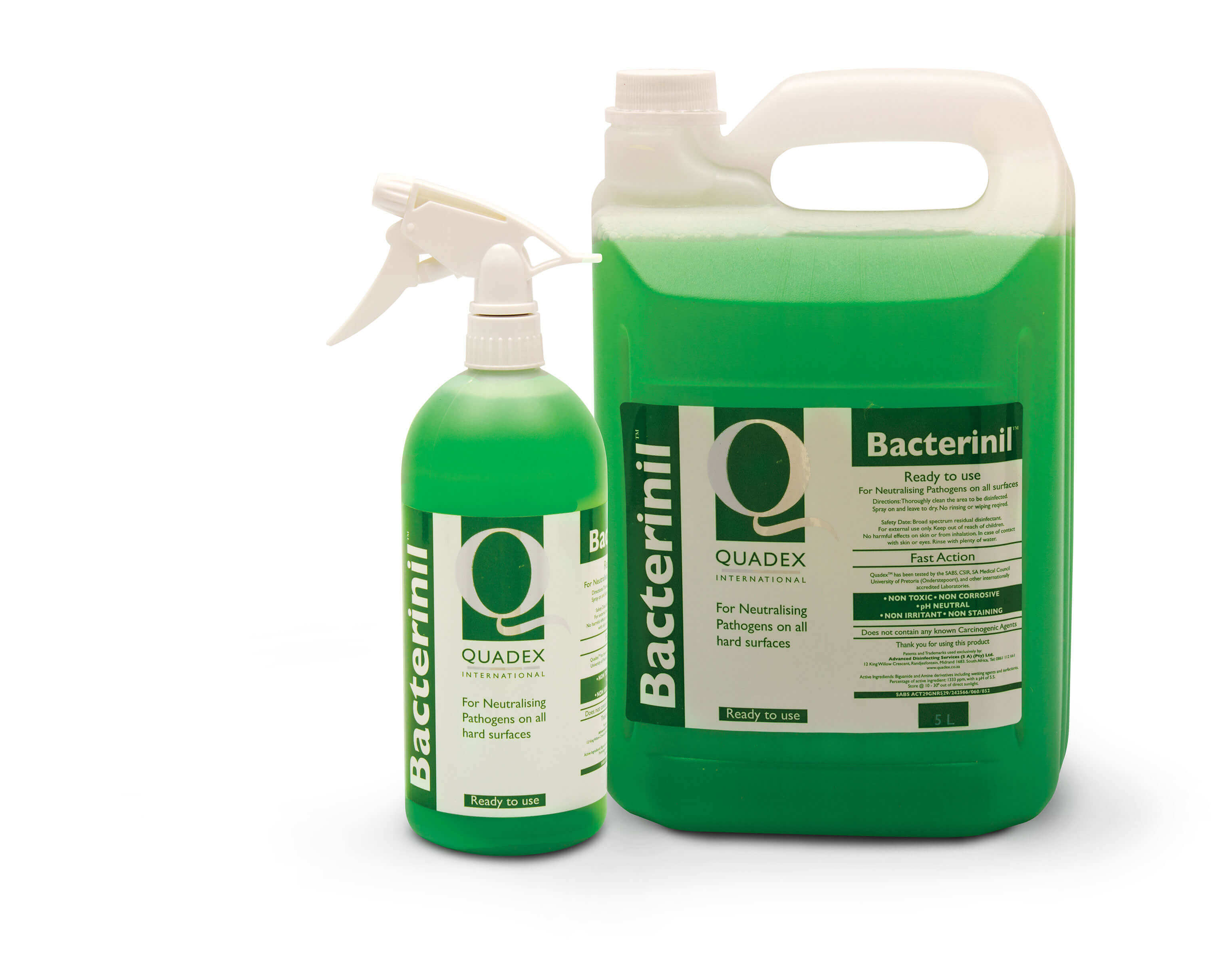 Bacterinil - RESIDUAL ACTION, NON-TOXIC, HARD SURFACE DISINFECTANT