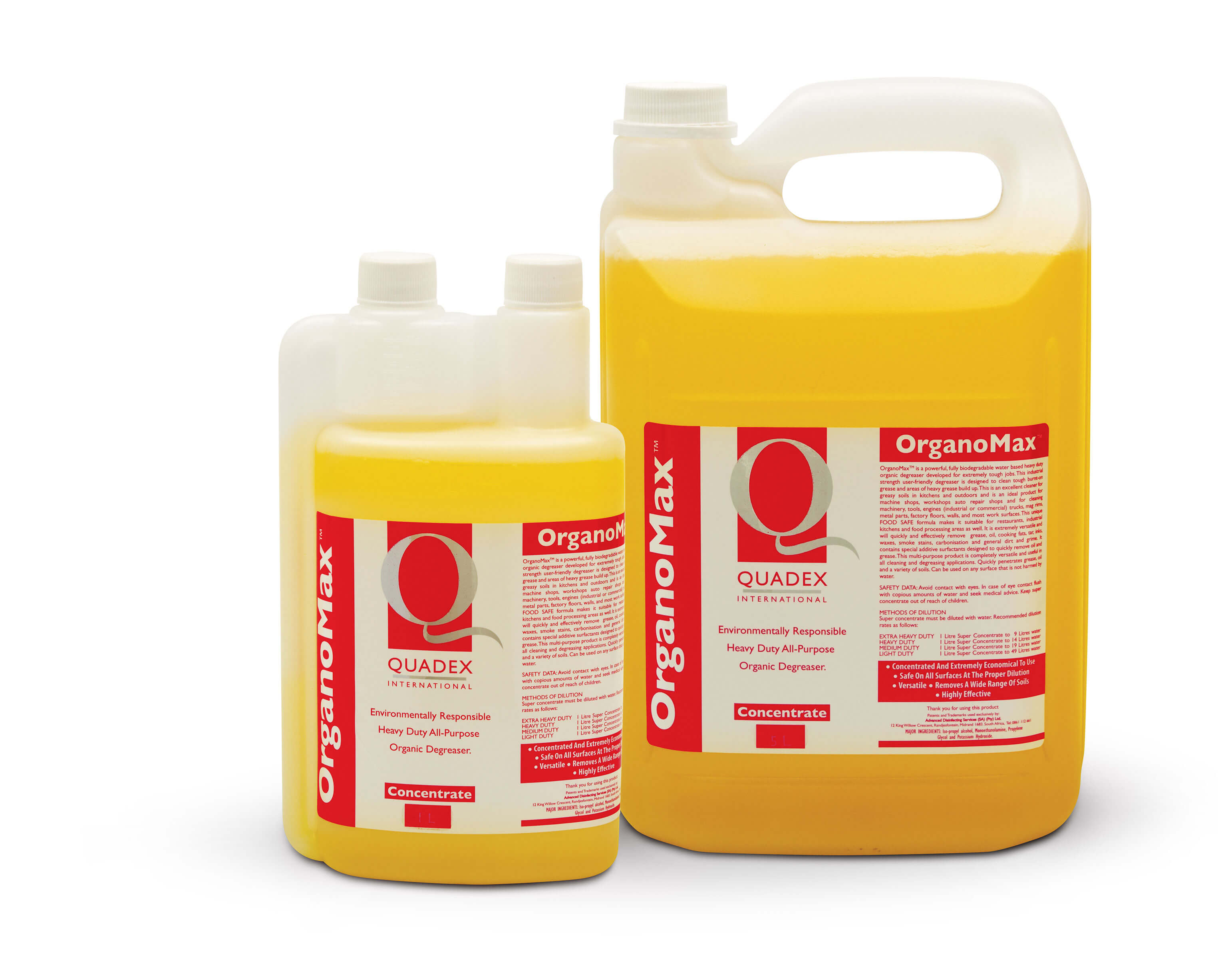 ORGANOMAX - POWERFUL BIODEGRADABLE ORGANIC DEGREASER