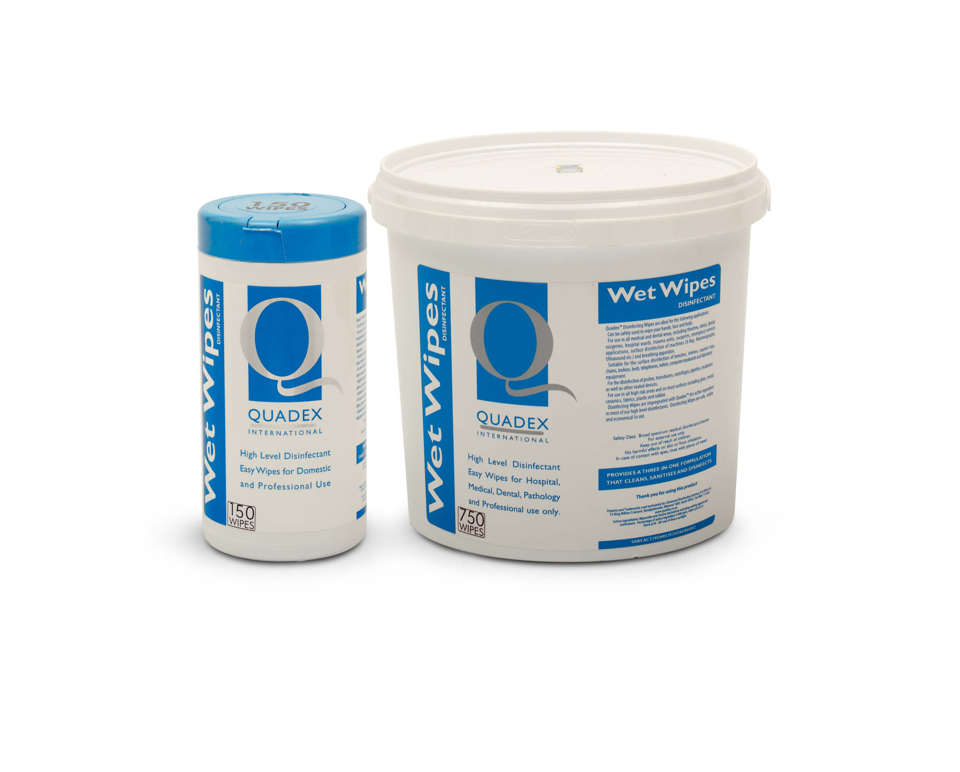 QUADEX® WET WIPES - HIGH LEVEL DISINFECTING WIPES